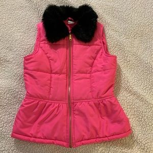 Circo puffer vest with furry collar